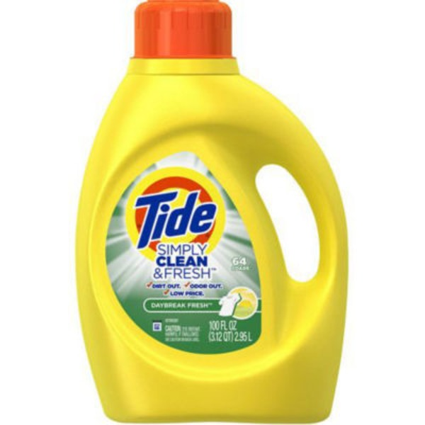 Tide Simply Clean & Fresh HE Liquid Laundry Detergent, Daybreak Fresh Scent, 64 Loads 100 Oz Laundry