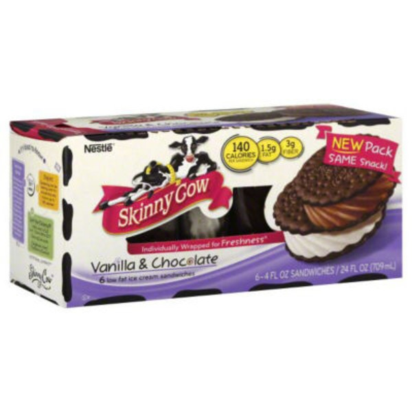 Skinny Cow The Dynamic Duo: Vanilla & Chocolate Ice Cream Sandwiches