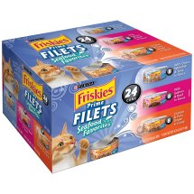 Purina Friskies Prime Filets Seafood Favorites Cat Food Variety Pack 24-5.5 oz. Cans