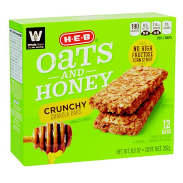 H-E-B Oats & Honey Crunchy Granola Bars