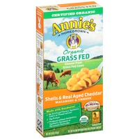 Annie's Homegrown Organic Grass Fed Shells & Real Aged Cheddar Macaroni and Cheese Grass Fed
