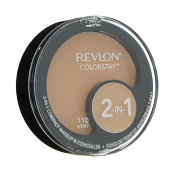 Revlon Colorstay 2-in-1 Compact Makeup And Concealer, Ivory