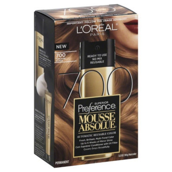 Superior Preference Mousse Absolue Pure Dark Blonde 700 Hair Color