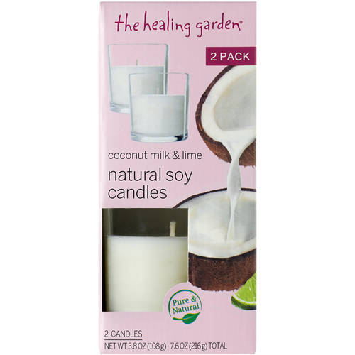 The Healing Garden Coconut Milk & Lime Natural Soy Candles