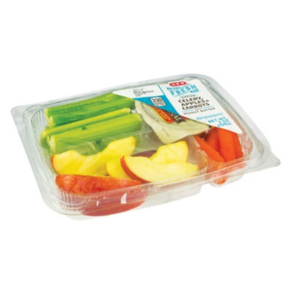 H-E-B Ready, Fresh, Go! Celery, Apples & Carrots Snack Tray