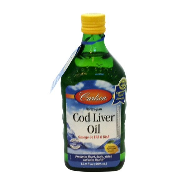 Carlson Labs Lemon Flavored Norwegian Cod Liver Oil