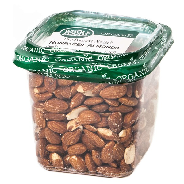 Whole Foods Market Nonpareil Almonds Dry Roasted No Salt