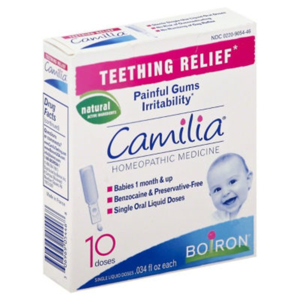 Boiron Camilia Teething Relief Homeopathic Medicine Single Liquid Doses - 10 CT
