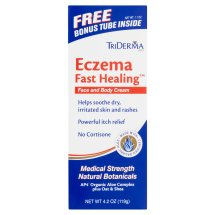 TriDerma MD Eczema Fast Healing Face and Body Lotion with Bonus Tube, 4.2 oz
