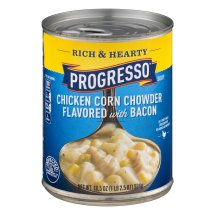 Progresso Rich & Hearty Chicken Corn Chowder Flavored with Bacon Soup, 18.5 OZ