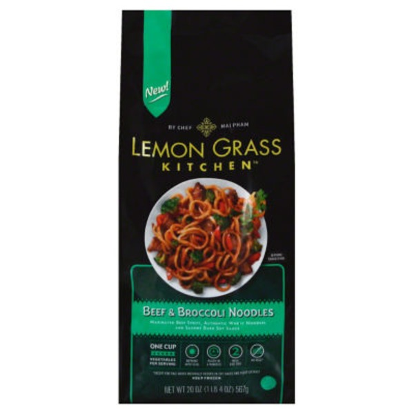 Lemon Grass Kitchen Beef & Broccoli Noodles