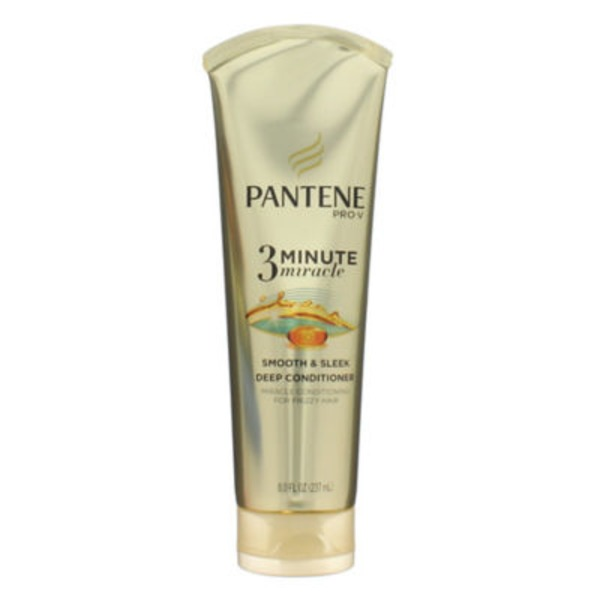 Pantene Frizzy to Smooth Pantene Smooth and Sleek 3 Minute Miracle Deep Conditioner 8 fl oz Female Hair Care