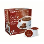 Café Escapes Café Mocha Keurig Single-Serve K-Cup Pods, 16 Count