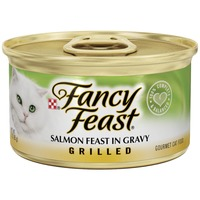 Fancy Feast Wet Grilled Salmon Feast in Gravy Cat Food