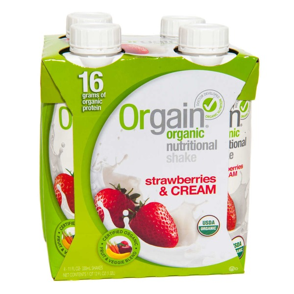 Orgain Organic Nutritional Shake Strawberries & Cream & Cream - 4 PK