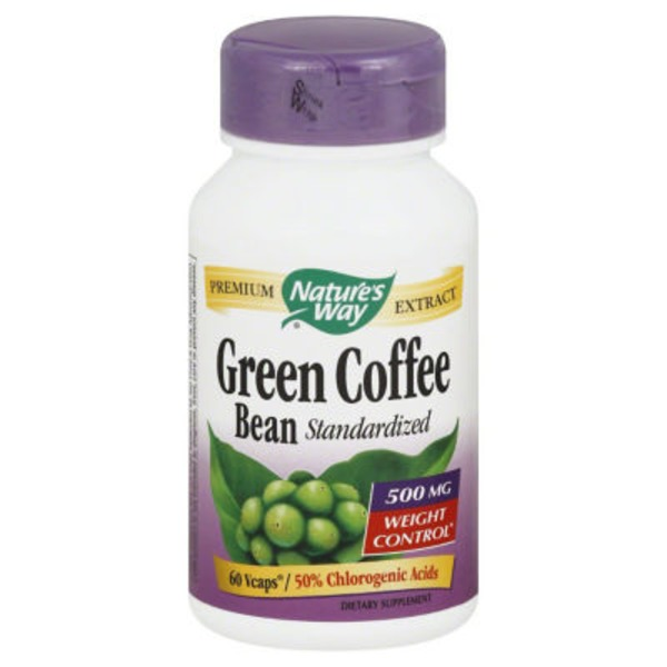 Nature's Way Green Coffee Bean, Standardized, 500 mg, VCaps