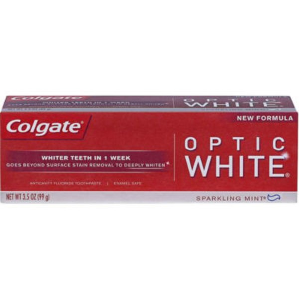 Colgate Optic White Anticavity Fluoride Toothpaste Sparkling White