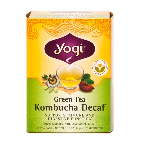 Yogi Green Tea Kombucha Decaf Herbal Tea