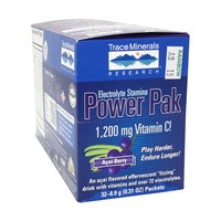 Trace Minerals Research Electrolyte Power Pak Acai Berry Box