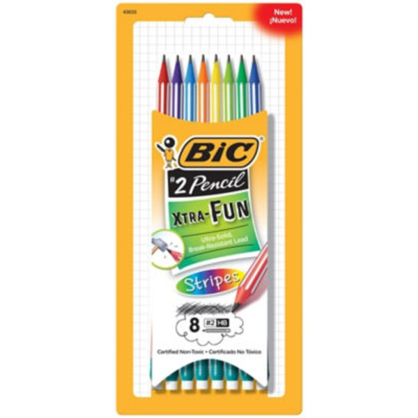 BiC Xtra Fun Stripes Pencils