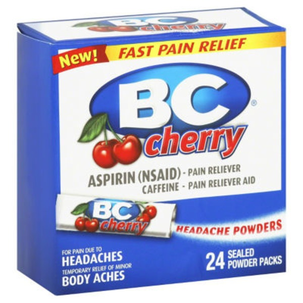 BC Aspirin Powder Packs Cherry - 24 CT