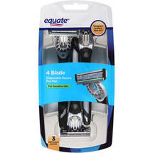 Equate 4 Blade Disposable Razors for Men