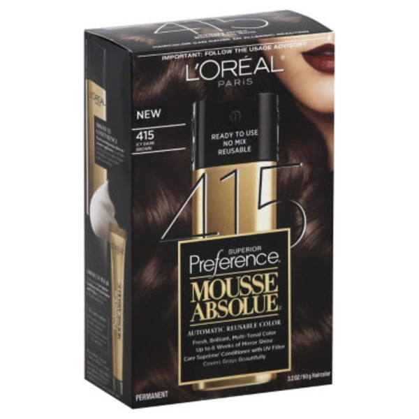 Superior Preference Mousse Absolue Icy Dark Brown 415 Hair Color