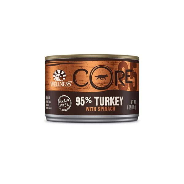 Wellness Core Grain Free 95% Turkey With Spinach Dog Food