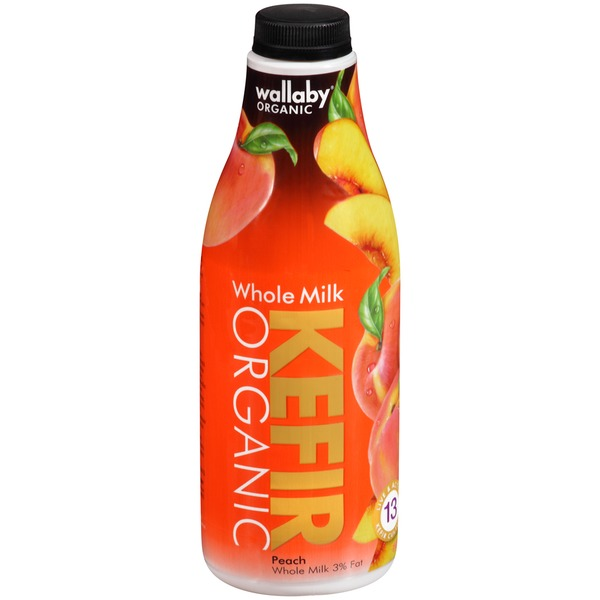 Wallaby Organic Whole Milk Peach Kefir