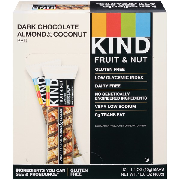 KIND Fruit & Nut/Dark Chocolate Almond & Coconut  Nutrition Bar