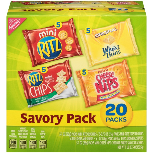 Nabisco Variety Pack Savory Pack Crackers & Chips