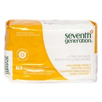 Seventh Generation Free & Clear Chlorine Free Ultra-Thin Regular with Wings Feminine Pads