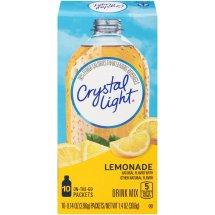 Crystal Light On-The-Go Drink Mix, Lemonade, 0.14 Oz, 10 Packets, 1 Count