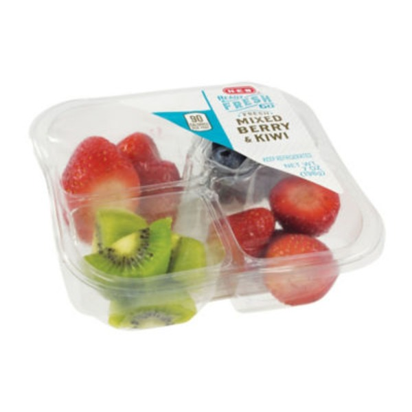 H-E-B Ready Fresh Go! Mixed Berries & Kiwi Snack Tray