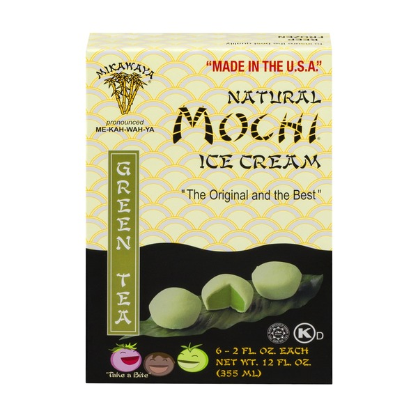 Mikawaya Mochi Ice Cream Green Tea - 6 CT