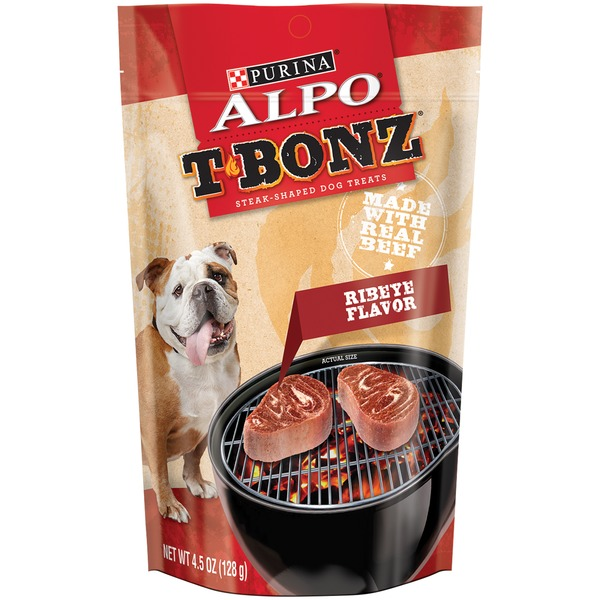 Alpo Treats T-Bonz Ribeye Flavor Steak-Shaped Dog Treats