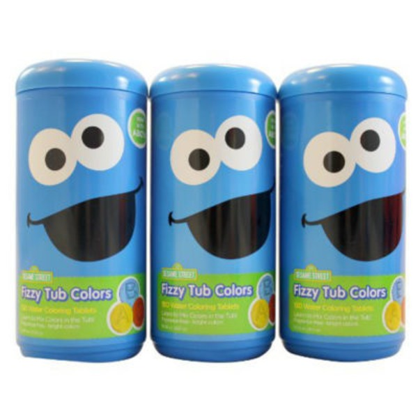 Sesame Street Fizzy Tub Colors - 150 CT