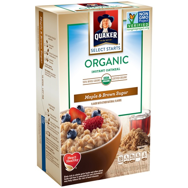 Quaker Oatmeal Select Start Maple & Brown Sugar Organic Instant Oatmeal