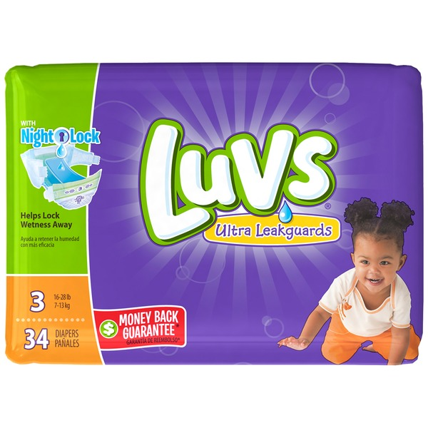 Luvs Ultra Leakguards Diapers Size 3 148 count  Diapers