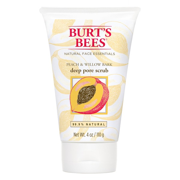 Burt's Bees Peach & Willow Bark Deep Pore Scrub, 4 Ounces