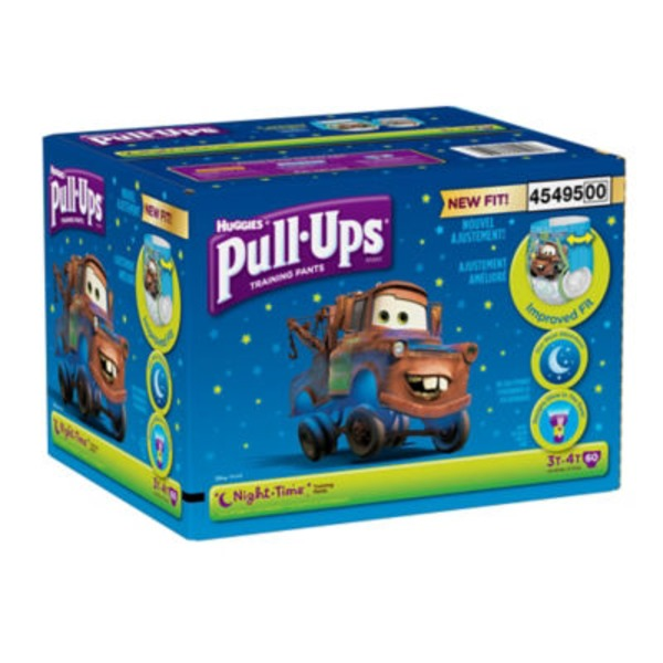 Huggies Pull-Ups Training Pants Disney Pixar Night-Time 3T-4T - 60 CT