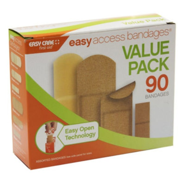 Easy Access Bandages Easy Care First Aid Assorted Bandages Value Pack