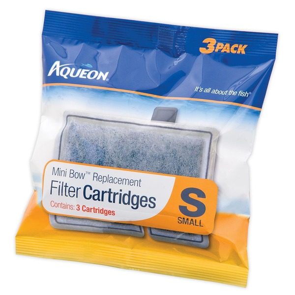 Aqueon Mini Bow Replacement Filter Cartridges Small