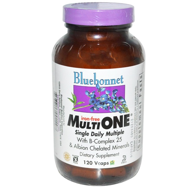 Bluebonnet Nutrition Multi One Iron Free