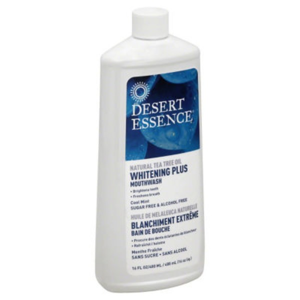 Desert Essence Mouthwash, Whitening Plus, Cool Mint