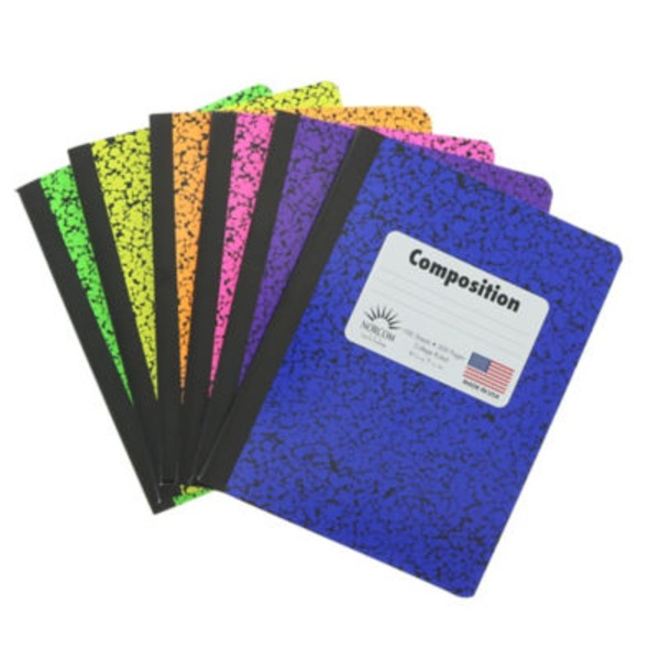 Norcom Composition Notebook College Rule Assorted