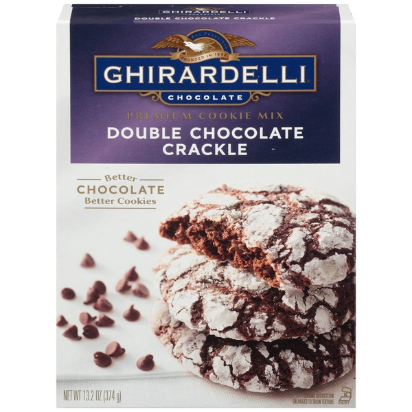 Ghirardelli Chocolate Double Chocolate Crackle Cookie Mix