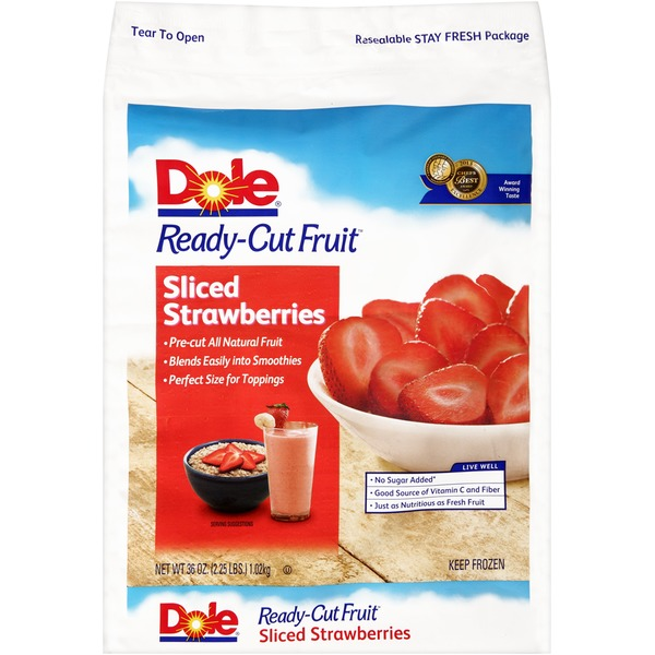 Dole Ready-Cut Fruit Sliced Strawberries