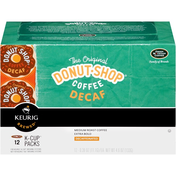 The Original Donut Shop Decaf Medium Roast, Extra Bold K-Cup Packs Coffee