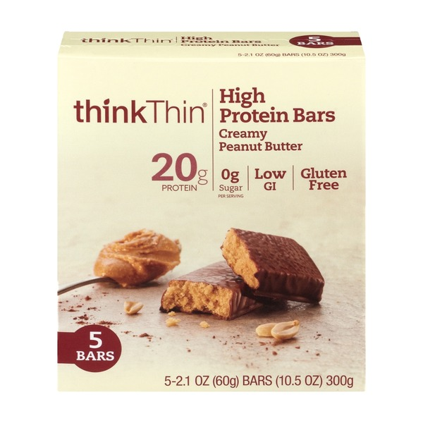 thinkThin Protein & Fiber Bars Creamy Peanut Butter